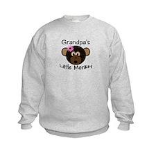 Grandpa's Little GIRL Monkey Sweatshirt