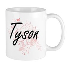 Tyson surname artistic design with Butterflie Mugs
