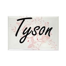 Tyson surname artistic design with Butterf Magnets