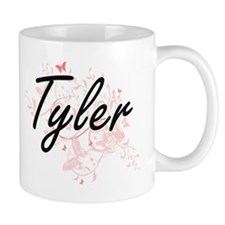 Tyler surname artistic design with Butterflie Mugs