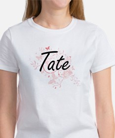 Tate surname artistic design with Butterfl T-Shirt