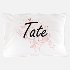 Tate surname artistic design with Butt Pillow Case