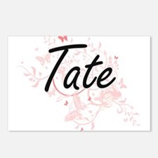 Tate surname artistic des Postcards (Package of 8)