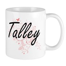 Talley surname artistic design with Butterfli Mugs