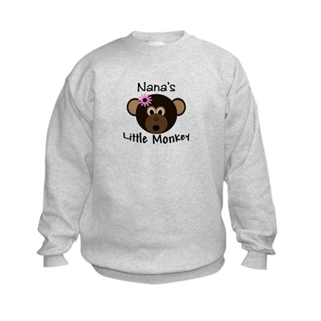 Nana's Little GIRL Monkey Kids Sweatshirt