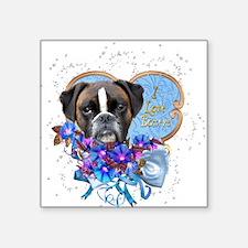 Boxer Love Blues Sticker