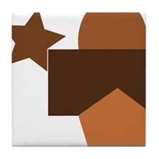 brown forms, geometry Tile Coaster