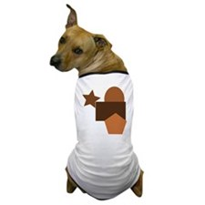 brown forms, geometry Dog T-Shirt