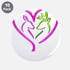 """Buck and Doe 3.5"""" Button (10 pack)"""