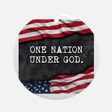 Unique One nation under god Round Ornament