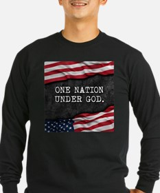 Patriotic quote. One nation un Long Sleeve T-Shirt