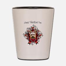 Yorkshire Terrier Valentine's Day Hearts Shot Glas