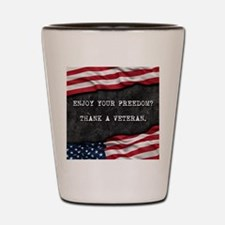 Funny Patriotism Shot Glass