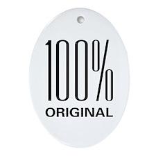 100% Original Oval Ornament