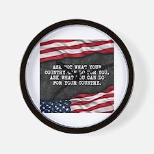 Cute Proud american Wall Clock