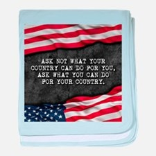 Patriotic quote. What can you do for baby blanket