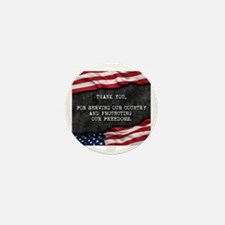 Unique Veterans Mini Button