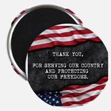 Cute Patriotic thank you Magnet