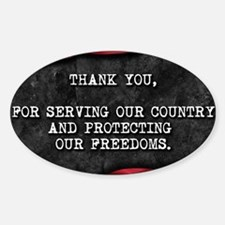Cute Thank you veterans Decal