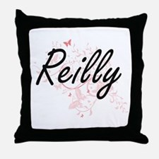 Reilly surname artistic design with B Throw Pillow