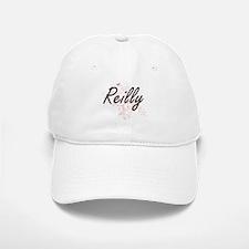 Reilly surname artistic design with Butterflie Baseball Baseball Cap