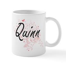 Quinn surname artistic design with Butterflie Mugs