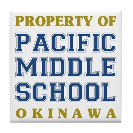 Pacific Middle School Tile Coaster