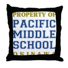 Pacific Middle School Throw Pillow