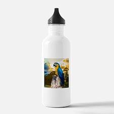 Beautiful Blue And Yellow Parrot Sports Water Bott