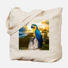 Beautiful Blue And Yellow Parrot Tote Bag