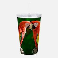 Beautiful Parrots Acrylic Double-wall Tumbler