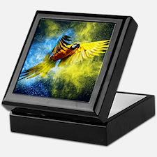 Beautiful Parrot Keepsake Box