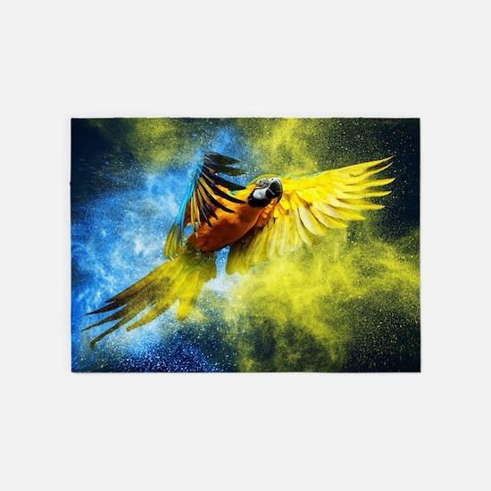 Beautiful Parrot 5'x7'Area Rug