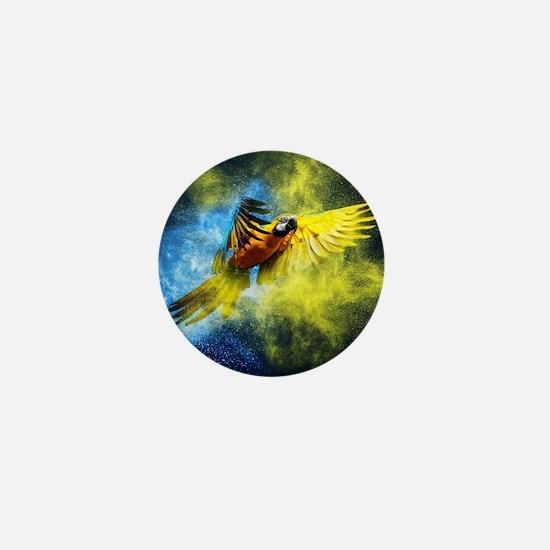 Beautiful Parrot Mini Button