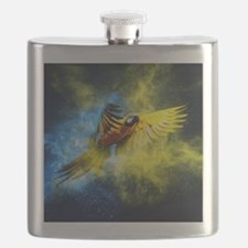 Beautiful Parrot Flask