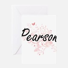 Pearson surname artistic design wit Greeting Cards