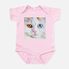 Odd-Eyed White Cat Infant Bodysuit