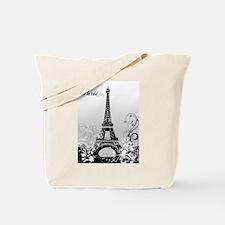 Eiffel Tower Paris (B/W) Tote Bag