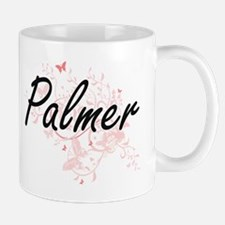 Palmer surname artistic design with Butterfli Mugs