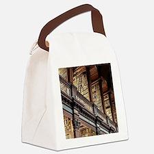 Bookworm vintage Canvas Lunch Bag
