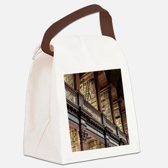 Cute Library Canvas Lunch Bag