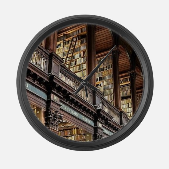Unique Library Large Wall Clock