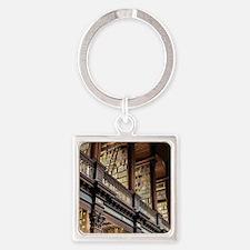 Unique Bookworm Square Keychain