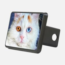 Odd-Eyed White Cat Hitch Cover