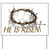 Christian easter he is risen sign Yard Signs