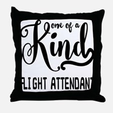 One of a Kind Flight Attendant Throw Pillow