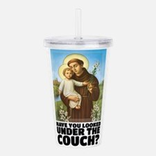 St. Anthony Religious Acrylic Double-wall Tumbler