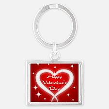 Red Happy Valentines Day Keychains