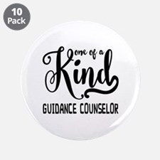 "One of a Kind Guidance Couns 3.5"" Button (10 pack)"
