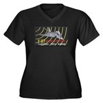 F-117 Stealth Tonopah Women's Plus Size V-Neck Dar